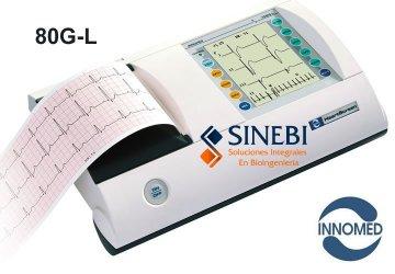Electrocardiógrafo 3 Canales + Ritmo 12 Derivaciones Simultáneas Innomed HeartScreen 80G-L AutoDiagnóstico