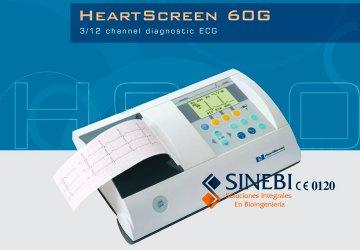 Electrocardiógrafo 3 Canales 12 Der. Simul. Innomed HeartScreen 60G
