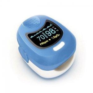 Oximetro de Dedo PEDIATRICO/Adulto Contec CMS50QB c/Pila Recargable y Cargador