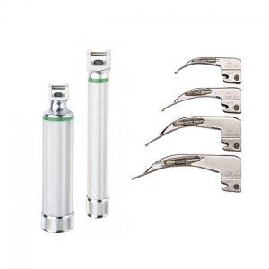 Laringoscopio a Fibra Optica Welch Allyn LUZ XENON Modelo McIntosh Curvos o MiniMiller Recto