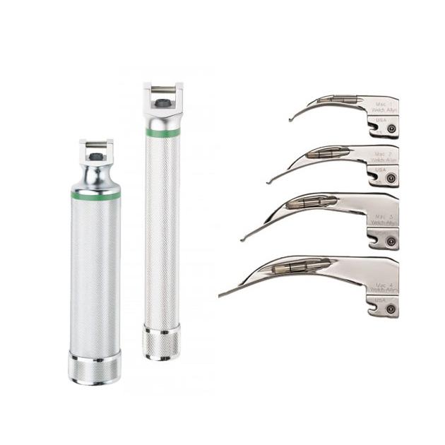 Laringoscopio a Fibra Óptica Welch Allyn LED Modelo McIntosh Curvos o MiniMiller Recto