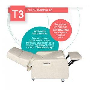 Sillon Articulado T-3 Hemodialisis Hemoterapia Quimioterapia