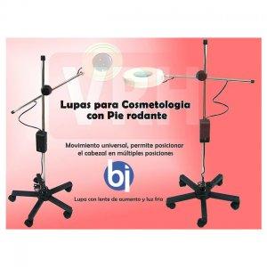 Lupa LED de Pie rodante c/base cinco patas Lente 130 mm bifocal VRH553