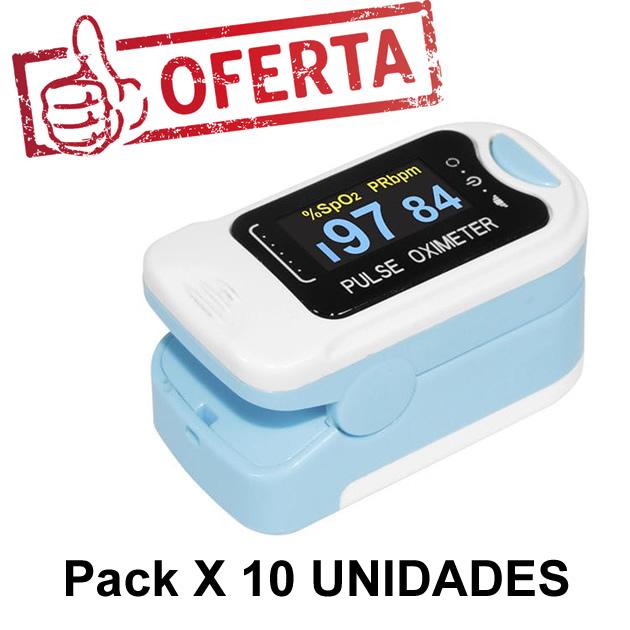 Pack X 10 Oximetro de Dedo Adulto Contec CMS50N