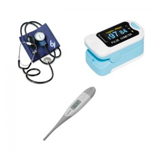 Kit / Set de Enfermeria Adulto con Oximetro + Tensiometro + Termometro + Estetoscopio