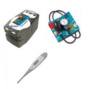 Kit / Set de Enfermeria Pediatrico con Oximetro + Tensiometro + Termometro + Estetoscopio